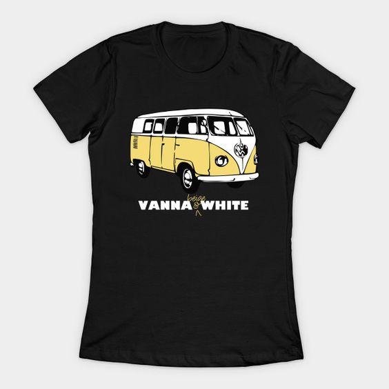 Vanna Beige & White Womens T-Shirt