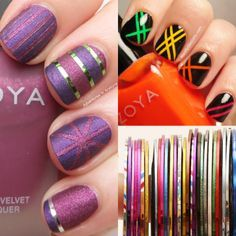 40 Killer Striping Tape Nail Art Designs | Nail Design Ideaz
