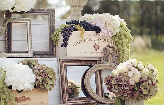 This might seem a little vain, but I love mirrors as an event design element--If not used to greet guests, then at least to be placed under table settings as a reflection of light. There are so many great things you can do with mirrors to enhance either a vintage or a modern wedding theme. Check out a few fabulous wedding ideas!