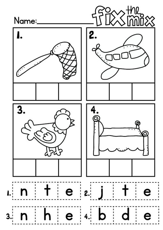 cvc Word Cards Fix the Mix Write n Wipe Cards Literacy Center – Cvc Words Worksheets Kindergarten