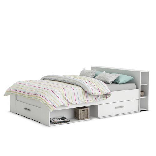Europaisches Doppelbett Home Etc Ende Perlweiss Ottoman Storage Bed Double Bed With Storage Bed