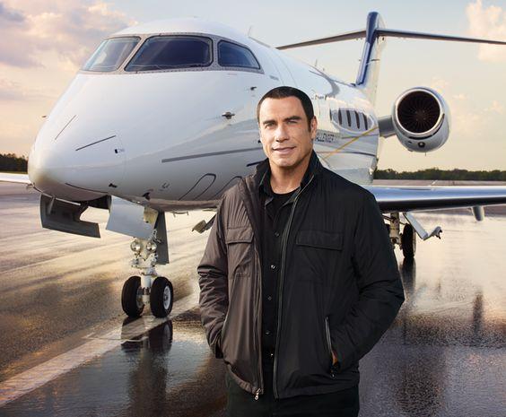 John Travolta and his private jet