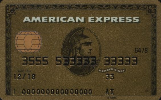 American Express GOLD with chip | Russian Standard Bank |  Col:RU-AE-0006-2