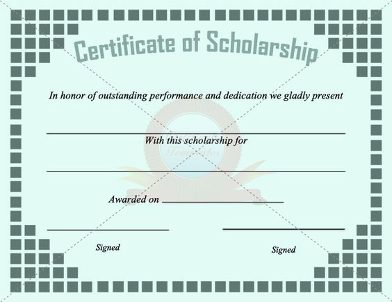 Scholarship Certificate Template SCHOLARSHIP CERTIFICATE - scholarship contract templates