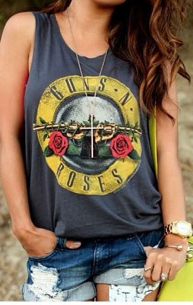 I love this. I hope she knows that Guns n Roses is a band..