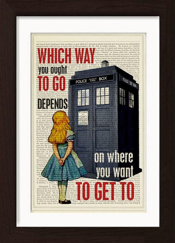 Alice Angebot mit The Dr, die Tardis Telefon die Weise Sie sollten zu gehen…