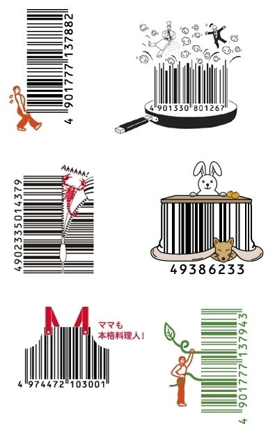 Popgadget Personal Technology for Women: Inventive Japanese barcodes blend art and maths