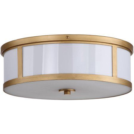 Safavieh Avery Ceiling Drum Light, Antique Gold - Walmart.com:
