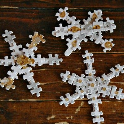 puzzle piece snowflakes