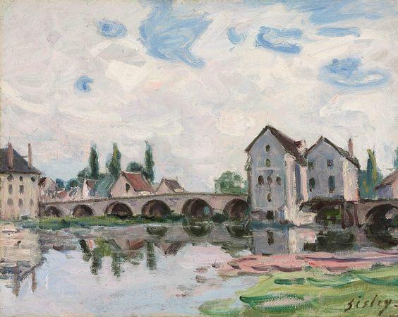 Alfred Sisley (1839-1899) Moret sur Loing 1887 (32 x 39,7 cm)