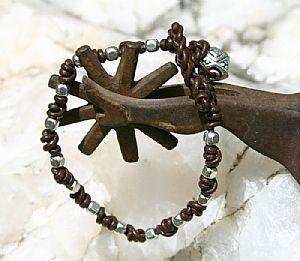 He Loves Me, He Loves Me Knot bracelet by Deborah & Russell Shamah