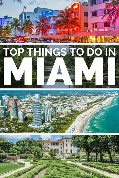 Top 25 Things To Do In Miami Travel Destinations Beach Miami
