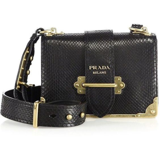 prada saffiano wallet on a chain - Prada Cahier Notebook Python Shoulder Bag (7,600 BAM) ? liked on ...