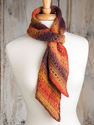 Free Crochet Pattern Download -- This Bias Crochet Scarf ...