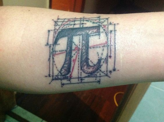 It is a design by SymbolGrafix. The tattoo artist is Masato Kaisawa from Mexico City.I did it at 03/14/15 special Pi day, to pay my respects to mathematics as asymbolof unity, curiosity and the pursue ofknowledge.Also, I am a physics engineer and this is my bachelors degree medal :)