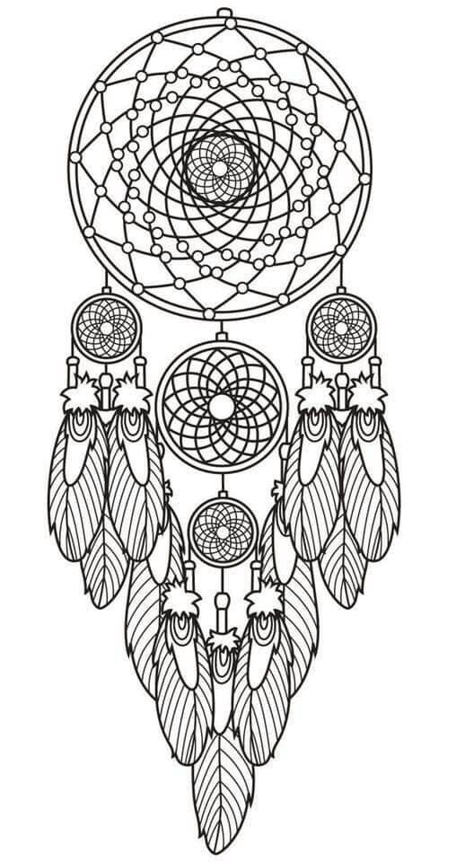 It is a graphic of Gorgeous Printable Adult Coloring Pages Dream Catchers