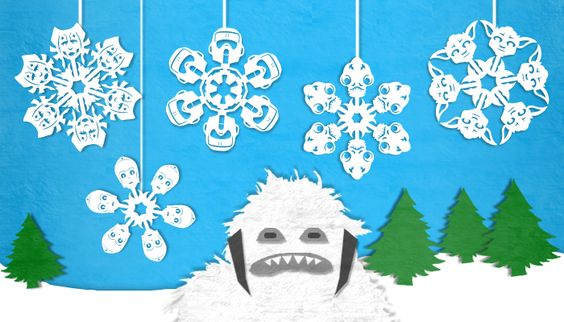 Star Wars Snowflakes! (Harder than they look, but still fun!)