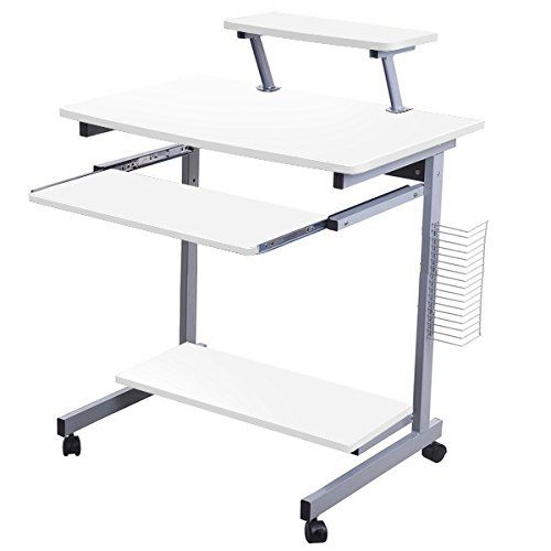 Schreibtisch mit druckerablage for Pc tisch ahorn