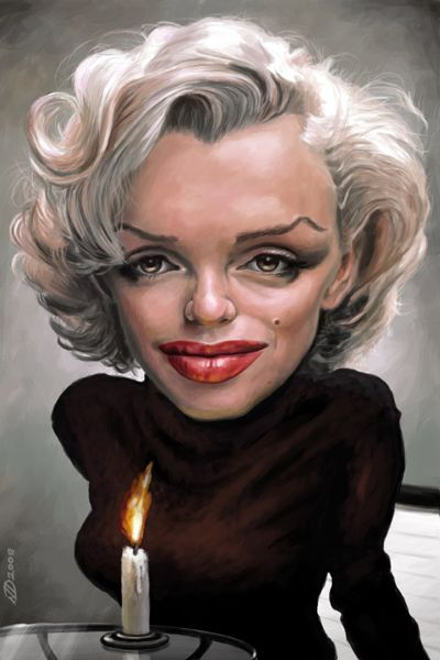"Marilyn Monroe-""Like a Candle in the Wind""  - artist: Neil Davies - website: http://singleservingjack.blogspot.com/:"