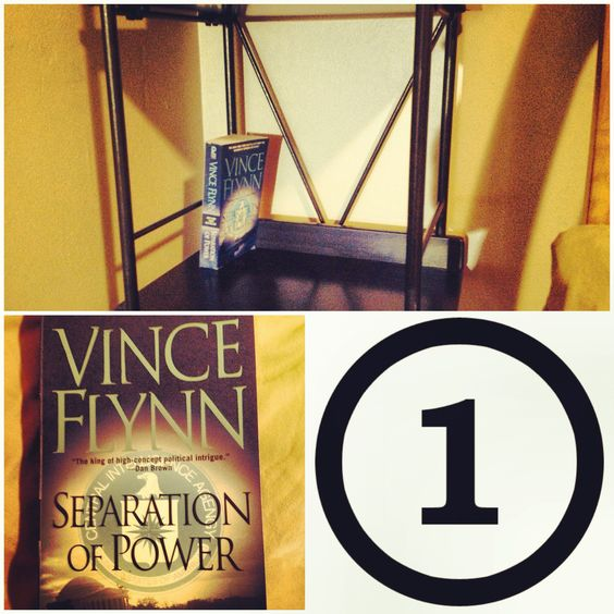 """Book 1: """"Separation of Power"""" by Vince Flynn. Another great Mitch Rapp thriller! #EmptyShelf"""