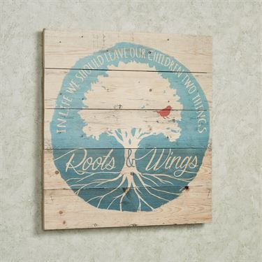 In Life Roots and Wings Wood Wall Art Plaque