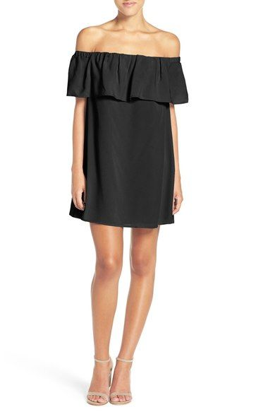 French Connection 'Polly' Ruffle Off the Shoulder Dress available at #Nordstrom