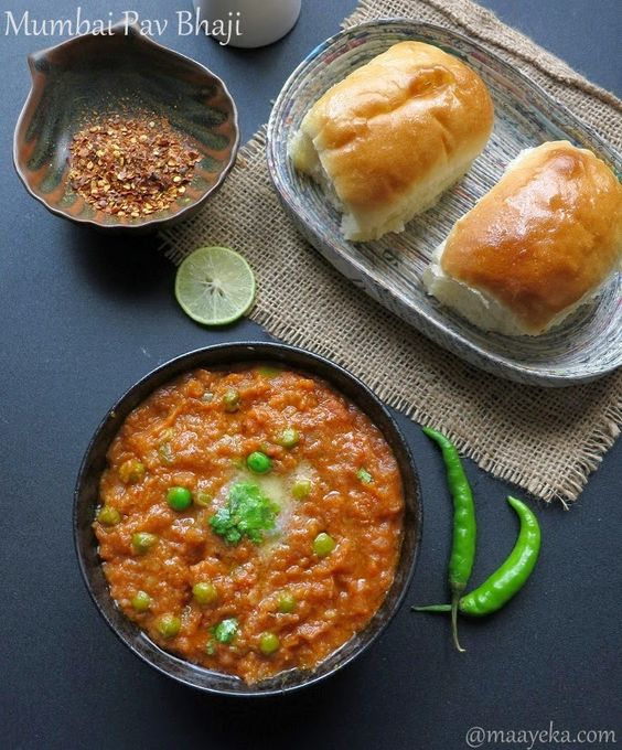 How To Make Mumbai Pav Bhaji ,Pav Bhaji Recipe (Maayeka)