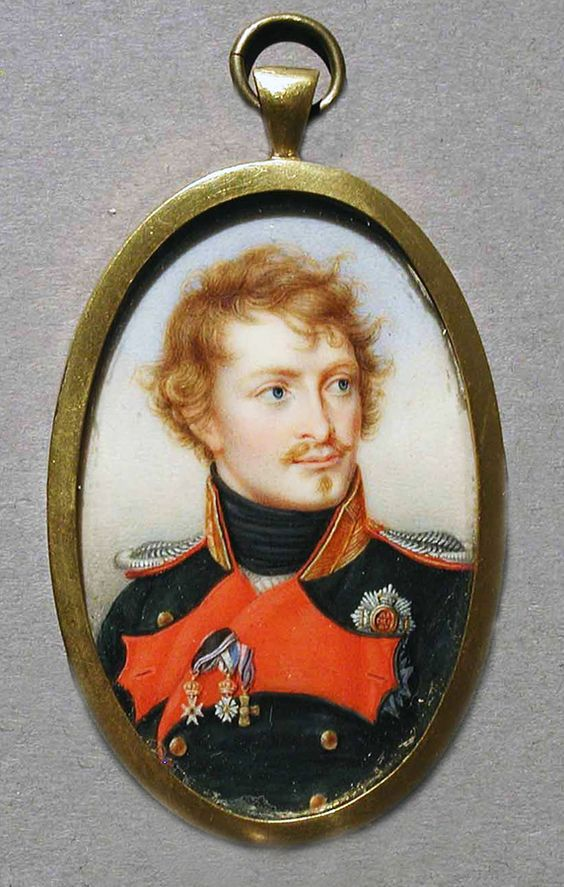 """French, """"Miniature Portrait of an Unknown Officer"""", c. 1815. Gift of Herbert DuPuy"""