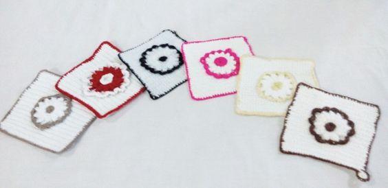Crochet coaster set