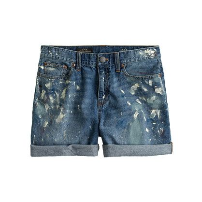 Pre-order Collection painted jean short - J Crew
