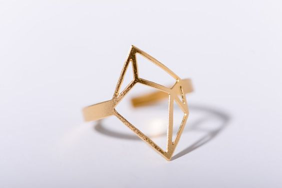 MIZYAN's large cubic ring, geometric rings, geometric accessories