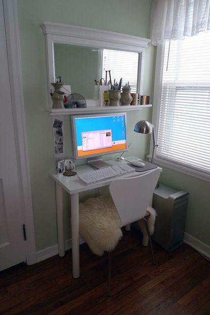 Ikea hack: my tiny desk. a long time ago (like five years ago ...