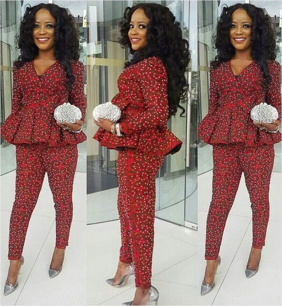 2019 Ankara Trouser and Top Styles for Ladies