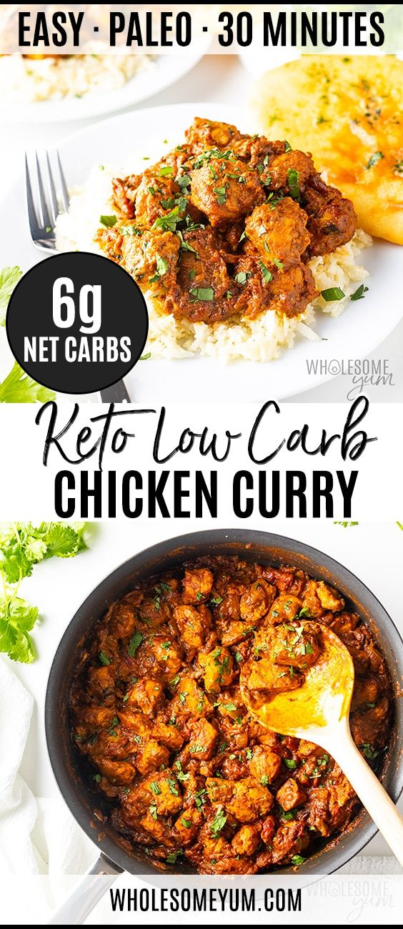 Coconut Curry Chicken A Keto Low Carb Curry Recipe Wholesome