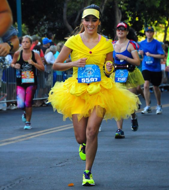 Princess Belle running costume. RunDisney 2015 :):