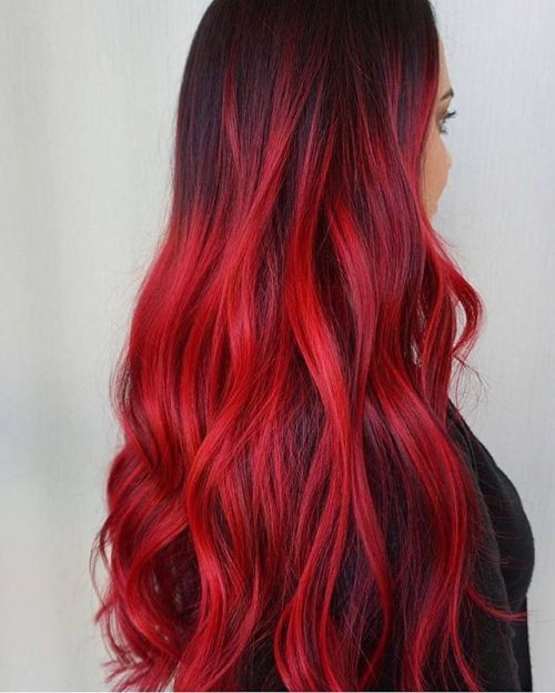 Photo Tumblr Red Hair Looks Hair Styles Red Balayage Hair