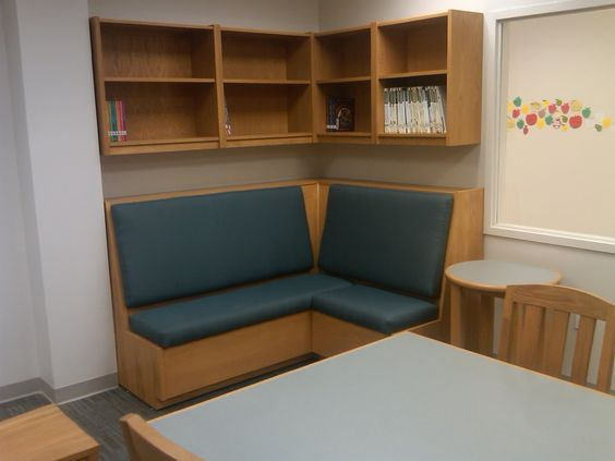 Hale custom corner bench - Children's Institute, NJ