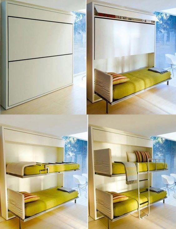 Bedroom Space Saving Ideas: Space Saver Elegant Double Deck Bed