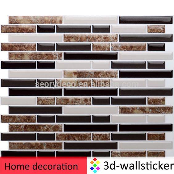 Printed marble self-adhesive wall tile