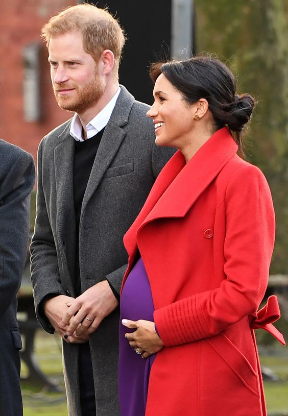 Lady in Red – and Purple! Meghan Markle and Prince Harry Step Out for First Appearance of 2019