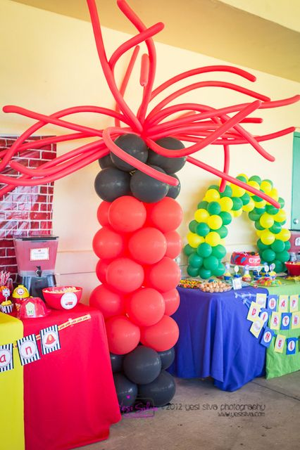 Firetruck, Fire Engine Birthday Party Ideas | Photo 1 of 19 | Catch My Party