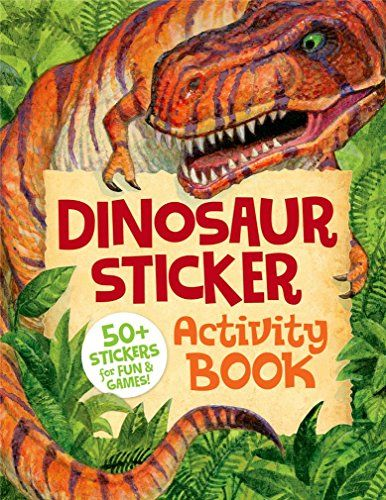 Kids' Paper Craft Kits - Peaceable Kingdom Dinosaur Sticker Activity Book *** You can get more details by clicking on the image.