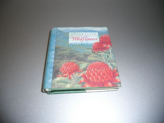 Australian Wildflowers Shirley Barber Miniatur Buch Australien ca. 8,5x7,5x1,5