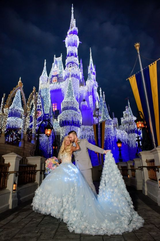 Abral Josh S Wedding Day First Look Inside Magic Kingdom Disney World Wedding Disney Wedding Disney Wedding Theme