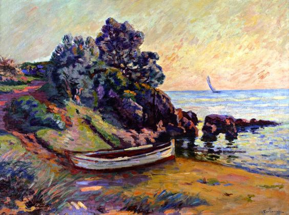 Armand Guillaumin (French, 1841-1927) - Boat at Agay, c.1900