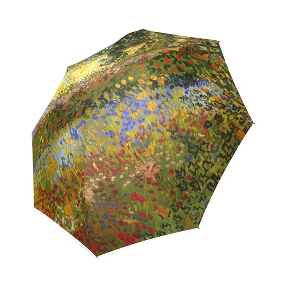 Van Gogh Flowering Garden Floral Art Foldable Umbrella