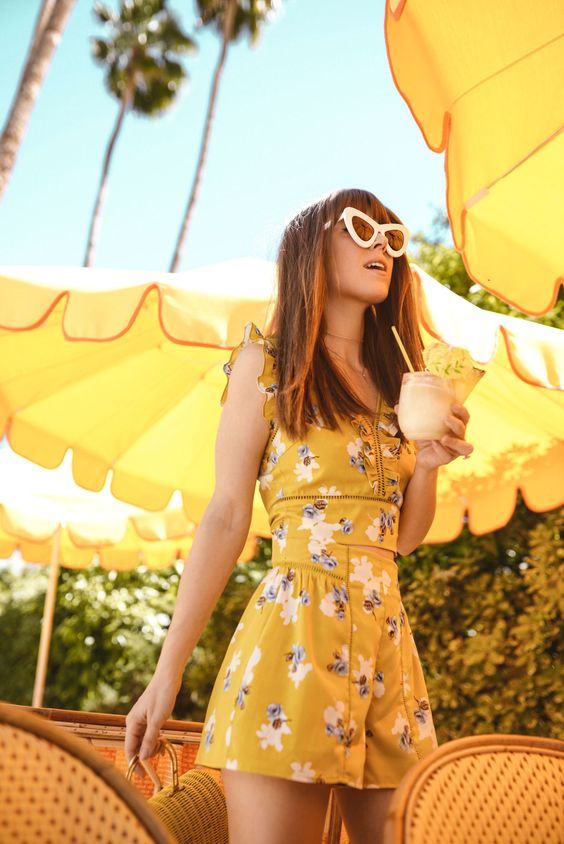 Yellow Two Piece | Jenny Cipoletti of Margo & Me
