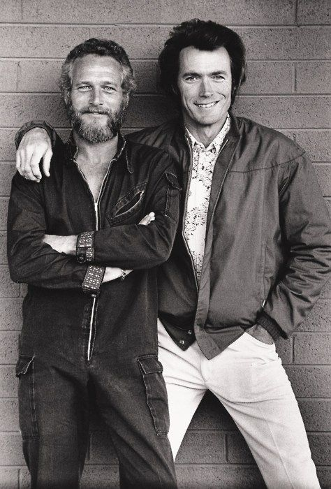 Paul Newman & Clint Eastwood, Awesome People Hanging Out Together - My Modern Metropolis