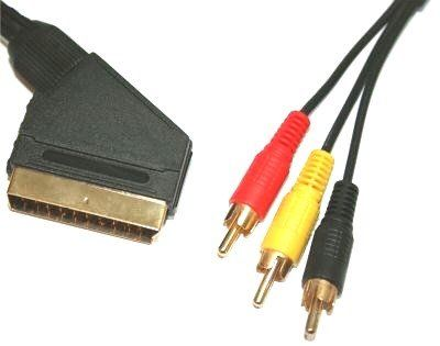 1.5m Scart to Triple RCA Cable (Switched) ~ Premium Quality ~ 24k Gold ~ Audio ~ Video ~ AV ~ Fully Wired Scart ~ In/Out Switch ~ 21-pin ~ 3xRCA ~ 3RCA has been published to http://www.discounted-tv-video-accessories.co.uk/1-5m-scart-to-triple-rca-cable-switched-premium-quality-24k-gold-audio-video-av-fully-wired-scart-inout-switch-21-pin-3xrca-3rca/
