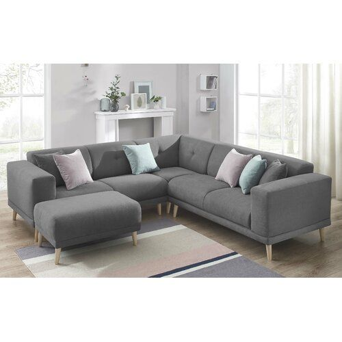 Stationares Ecksoda Angelica Zipcode Design Polsterfarbe Dunkelgrau In 2020 Sectional Sofa Sofa Furniture